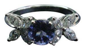 Tiffany & Co. Tiffany & Co Platinum Victoria Diamond Tanzanite Ring 2.26CT PT950