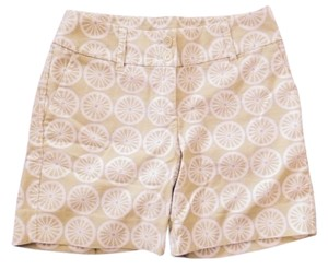 Bermuda Shorts Lime Green and White