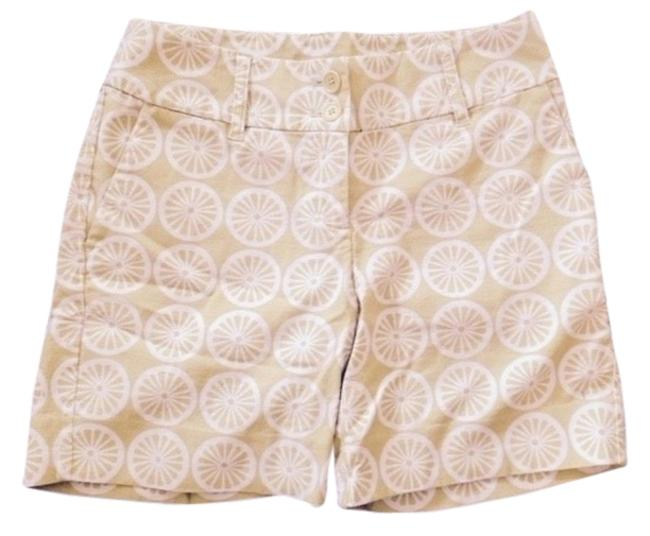 Other Bermuda Shorts Lime Green and White