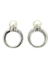 Ocean Fashion Simple pearl ring silver earrings