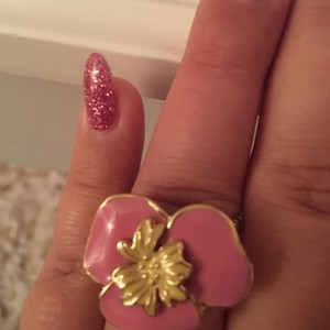 Lilly Pulitzer Lilly Pulitzer Adjustable Pink Flower Ring