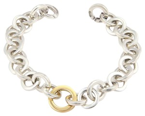 Tiffany & Co. Tiffany & Co Sterling Silver & 18K Yellow Gold Circular Link Bracelet