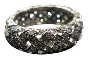 Tiffany & Co. Tiffany & Co Platinum Vannerie Diamond Ring 2.80CT Size 6.5