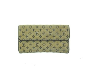 Louis Vuitton International Monogram Mini Lin Canvas Leather Long Clutch Wallet