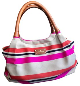 Kate Spade Satchel in Light tan with stripes