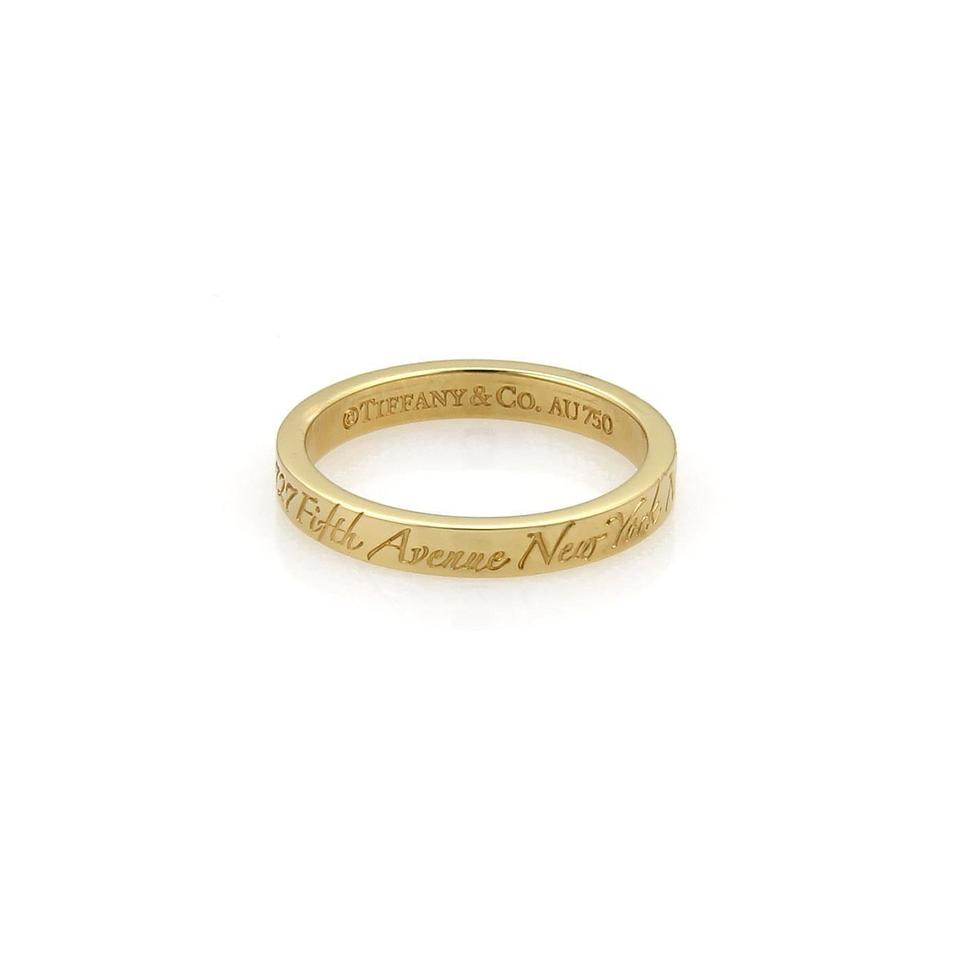 e229a7caa8358 Tiffany & Co. Yellow Gold Notes 3mm Wedding Band Size 8.5 Ring