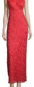 Aidan Mattox Long Lace Halter Gown Dress