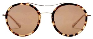 Gucci Gucci Ultra-Light Round Havana Sunglasses