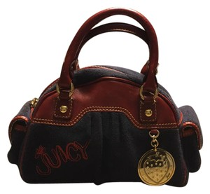 Juicy Couture Satchel in navy/burgundy