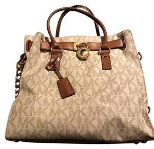Michael Kors Collection Tote in White/cream/brown