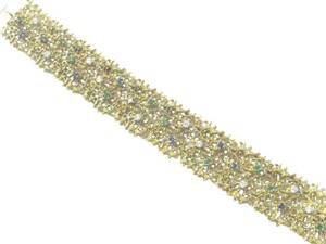 gubelin Gubelin 18Kt Gem Emerald Sapphire Diamond Yellow Gold WIDE Bracelet 2.