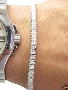 Other Fine 5.25CT Princess Cut Diamond Tennis Bracelet White Gold 14KT