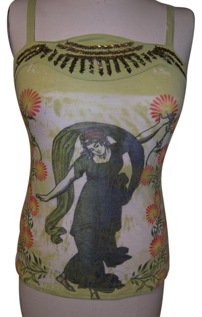 Item - Multicolor Tattoo Graphics Maidens Catcus Snake Eagle Tee Shirt Size 8 (M)
