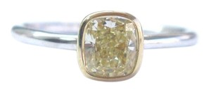 Tiffany & Co. Tiffany & Co Platinum / 18Kt Fancy Yellow FLAWLESS Diamond Bezel Set R
