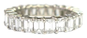 Other Fine Emerald Cut Diamond Shared Prong Eternity Band Ring WG 5.50CT Sz7