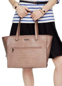 Kate Spade Leather Crocodile Embossed Shoulder Bag