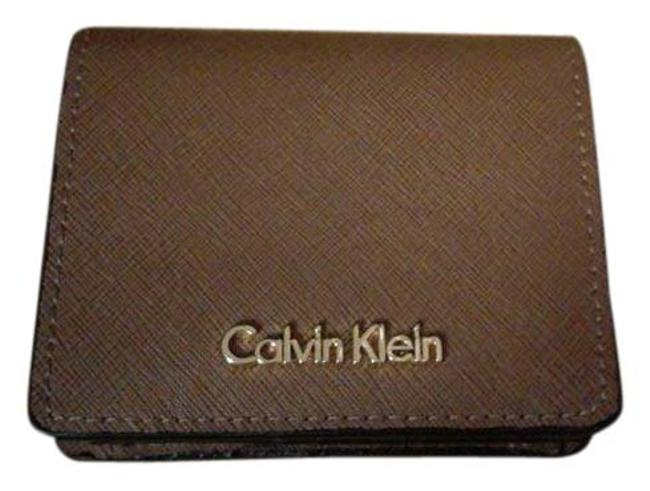 Item - Beige / Brown Compact Bifold Leather New Wallet