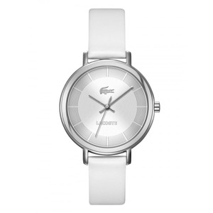 Lacoste Lacoste Ladies White Leather Band and stainless Steal Watch 2000716