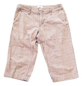 Banana Republic Bermuda Shorts Brown and Tan Houndstooth