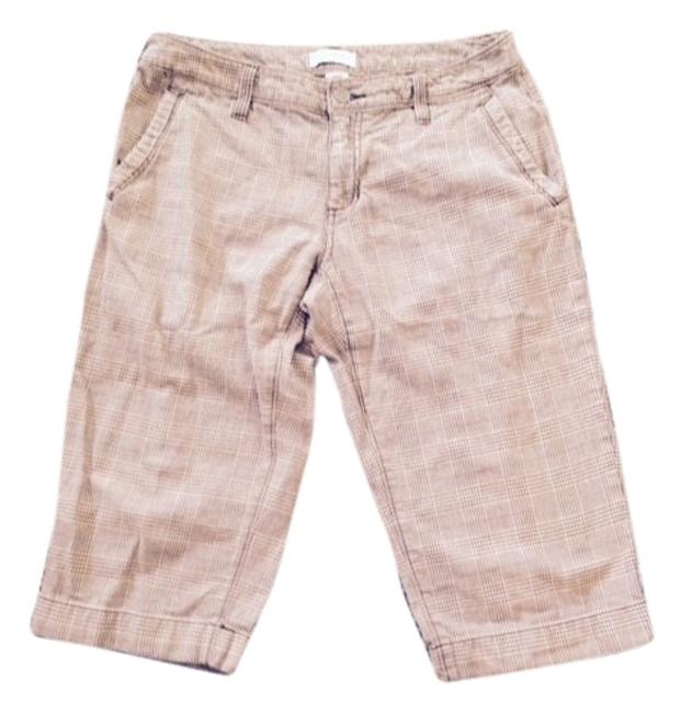 Item - Brown and Tan Houndstooth Cargo Shorts Size 6 (S, 28)