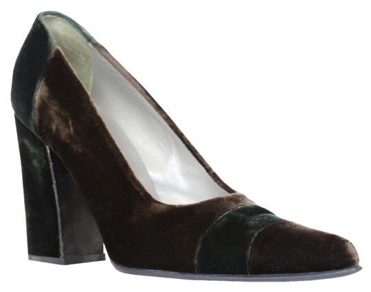Prada Velvet Brown Pumps