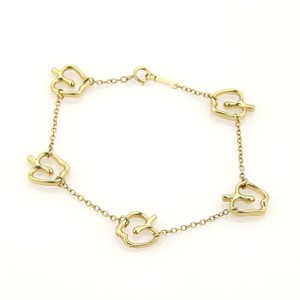 Tiffany & Co. Tiffany & Co Peretti 5 Apple Charms 18k YGold Chain Bracelet