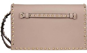 Valentino Rockstud Black Studded blush Clutch
