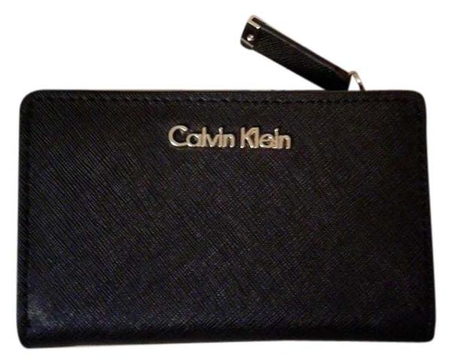 Item - Black / Gold Leather Bifold Coin In and Logo Wallet