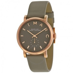 Marc Jacobs Marc Jacobs Women's Baker Rose Tone Grey Leather Watch MBM1266