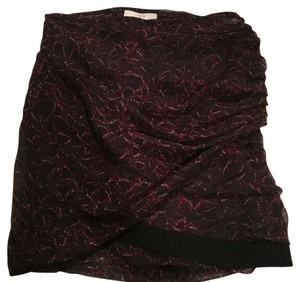 IRO Mini Skirt black and red