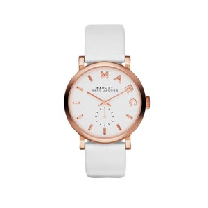 Marc Jacobs Marc Jacobs Women's Baker Rose Tone White Leather Watch MBM1283