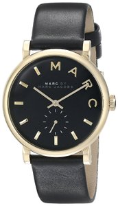 Marc Jacobs Marc Jacobs Women's Baker Gold Tone Black Leather Watch MBM1269