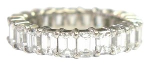 Other Fine Emerald Cut Diamond Shared Prong Eternity Band Ring WG 5.25CT Sz