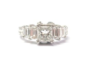 Tacori Tacori Platinum Princess & Baguette Diamond Ring 1.63CT