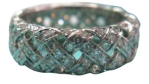 Tiffany & Co. Tiffany & Co Platinum Vannerie Diamond Band Ring 2.80CT Size 6.5