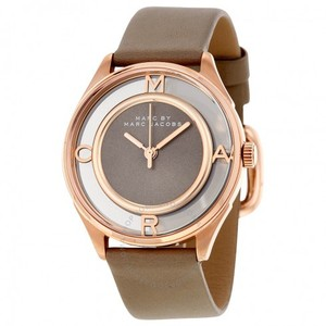 Marc Jacobs Marc Jacobs Women's Tether Three Hand Leather Watch - Grey MBM1375