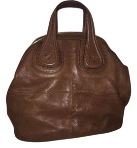 Givenchy Leather Nightingale Brown Satchel in Medium brown
