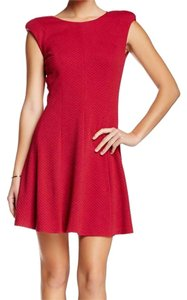 Rebecca Taylor short dress red Knit Size 4 on Tradesy