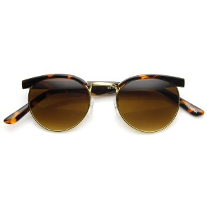 Other VINTAGE FASHION ROUND HALF FRAME SUNGLASSES