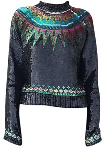 Jean-Paul Gaultier Vintage Sequin French Couture Top Black