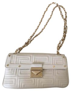 3590125685 Versace Classic Chain White Leather Clutch 58% off retail