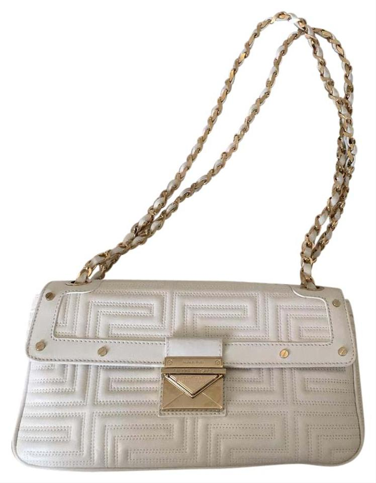 98d137c7f620 Versace Classic Chain White Leather Clutch - Tradesy