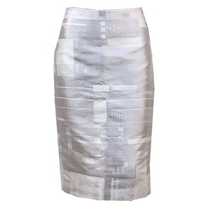 Calvin Klein Collection Francisco Costa Classic Minimal Modern Skirt Pale Gold