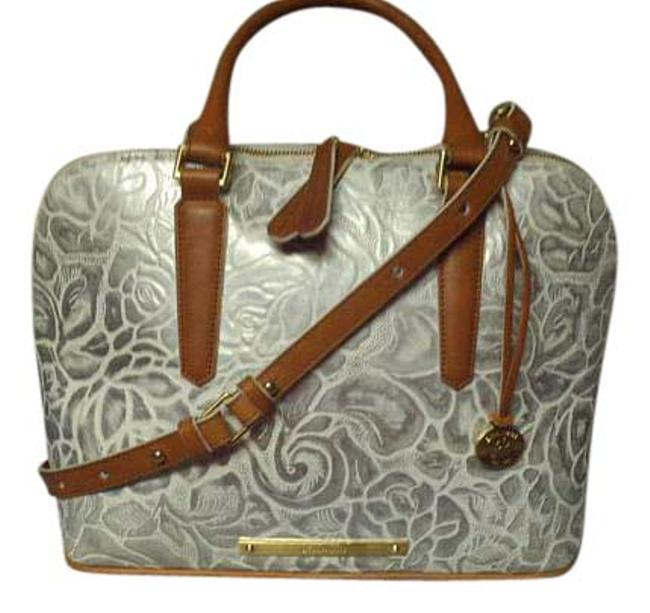 Item - White/Silver Leather Satchel