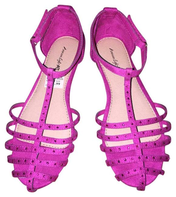 Item - Pink Rose Suede Girl's Sandal 1/2 Sneakers Size US 4 Regular (M, B)