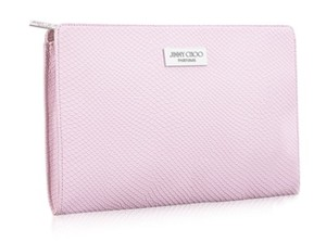 Jimmy Choo Jimmy Choo Cosmetic makeup Hand Bag Clutch snake leather baby pink
