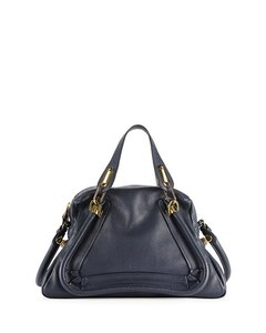 Chloé Leather Satchel in Navy