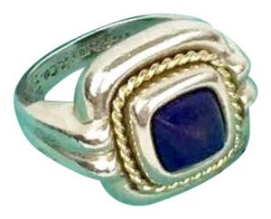 Tiffany & Co. TIFFANY & CO. Size 6.5 Sterling Silver and 18K Blue Lapis Ring!