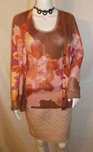 M Missoni M. Spring Floral Cotton Twinset Cardigan