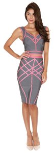 ZEMA Bandage Set Pencil Skirt Crop Top Dress